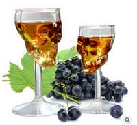 festas de casamento vermelhas de vinho venda por atacado-Taça de caveira cálice de vidro Criativo Horror Crânio Cálice Borosilicato Copo de Vinho Tinto Uísque Espíritos Mini Copo para o Tema Do Partido de Halloween