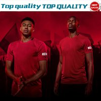 camisa roja al por mayor-2019 United # 6 POGBA casa rojo camisetas de fútbol 19/20 camisetas de fútbol LUKAKU # 7 ALEXIS # 10 RASHFORD Uniformes de fútbol en oferta Envío de la gota