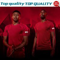 camisetas de barco de gota al por mayor-2020 United # 6 POGBA Home Camisetas de fútbol rojas 19/20 Camisetas de fútbol para hombres # 9 MARTIAL # 10 RASHFORD Uniformes de fútbol En oferta Envío de la gota