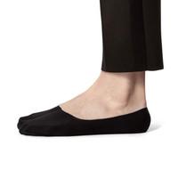 meias invisíveis venda por atacado-Women Secret 2,0 No Show meias de algodão penteado cor sólida super invisíveis meias silicone feminino meias super-rasa anti derrapante