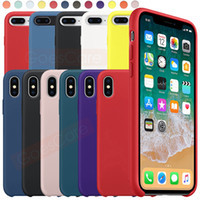 Wholesale wine case for iphone for sale – best Have LOGO Original Silicone Case For iPhone Pro Max Xs Xr Official Liquid Silky Soft Touch Cover For iPhone X Plus s Case