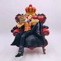 Wholesale red couches resale online - Japanese Anime One Piece Super Big Sir Crocodile in Couch Statue Figure