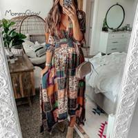 Wholesale pregnancy dresses for sale - Group buy Maternity Maxi Dress Bohemian Style Pregnancy Clothes Printing Folding Plicing Long Elegant Dress For Pregnant Women Plus Size