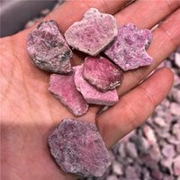grava de cristal rojo al por mayor-DHX SW 100g de calidad superior rojo corindón piedra cristalina natural piedra caída piedra para hacer joyas y decoración de bricolaje