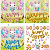 bunny kit großhandel-12 zoll Ostern Day Party Dekorative Sets Cartoon Kaninchen Bunny Form aluminium film Ballon Decor Kits HH7-1997