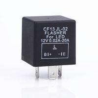 ingrosso lampadina elettronica principale-1Pcs 12V 3 pin Car elettronico SUV CF13 JL-02 LED Flasher Relay Blink Flash nero