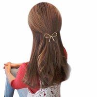 kelebek klibi saç yayları toptan satış-Takı Metal Büyük Elastik Kadınlar Geometrik Ajur Kelebek Firkete Saç Klipler Headdress Saç Yay Aksesuarları Toptan