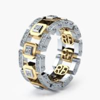 gold gefüllte zirkonia-ringe groihandel-Größe 6-10 Vintage Modeschmuck 925 Sterling SilverRose Gold Fill Pflastern 5A Zirkonia Frauen Hochzeit Verlobungsring Ring Für Liebhaber
