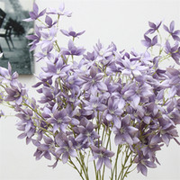 Wholesale freesia for sale - Group buy Freesia Hybrida Klatt Flower Artificial Home Living Room Decorative Flower Wedding Centerpieces Party Decorative Fake Flowers