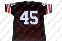 nueva jerseys marrones cosidos al por mayor-venta al por mayor Ernie Davis # 45 The Express Movie New Football Jersey Marrón Cosido Personalizado cualquier nombre de nombre HOMBRE MUJER JOVEN DE JÓVENES DE JUVENTUD