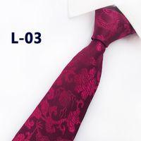 ingrosso cravatte cinesi-2019 Nuovo arrivo Nuovo Design Brocade Fabric Festive Chinese Dragon Pattern Wedding Tie Groom Tie Rosso vino nero Rosa Brown Tie