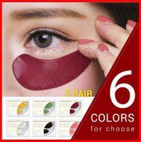 NEW 6 Colors LANBENA 24K Gold Eye Mask Collagen Eye Patches Anti Dark Circle Puffiness Eye Bag Moisturizing Skin Care