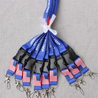 Wholesale moble phones online – TRUMP lanyards U S A Removable Flag of the United States Key Chains Badge Pendant Party Gift moble phone lanyard
