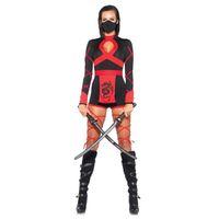 cadılar bayramı suikastçisi toptan satış-Cadılar bayramı Yeni Ninja Cosplay Maske Siyah Kapüşonlu Kostüm Assassin Oyunu Cosplay Kadınlar Yetişkin Seksi Anime Ninja Kostüm Siyah Suits