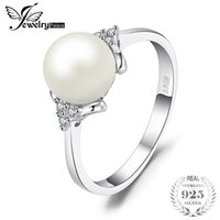 Wholesale 925 sterling silver 8mm for sale - Group buy Jewelrypalace Luxury mm mm Freshwater Cultured Pearl Engagement And Wedding Ring Sterling Silver Fine Jewelry For Women J190529