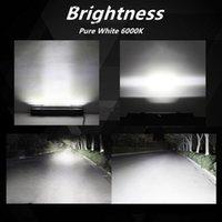 arabalar için en iyi ışıklar toptan satış-1 Adet LED Araba Işık Çubuğu Çalışma Lambası 72 W 144 W IP68 Sürüş F-Best için Su Geçirmez Toz Geçirmez