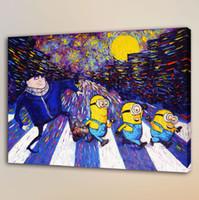 gente de impresión de lienzo al por mayor-Van Gogh Small Yellow People, HD Impresión en lienzo Decoración para el hogar Pintura del arte / Sin marco / Enmarcado