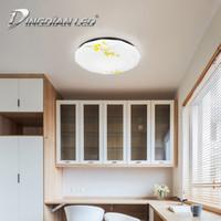 plafón led blanco al por mayor-AC220V Luz de techo LED Patrón moderno 24W Decoración de la sala de estar A prueba de polvo Lámpara de techo blanca fría Lámpara de interior LED