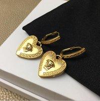 küp ağları toptan satış-2020 yeni kadın moda kişilik net kırmızı kalp küpe Seiko kaliteli kafa Kalp Küpe