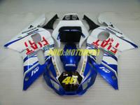 yamaha yzf r6 blau großhandel-Motorrad Verkleidungsset für YAMAHA YZFR6 98 99 00 01 02 YZF R6 1998 2002 YZF600 ABS Weiß Blau Verkleidungsset + Geschenke YG17