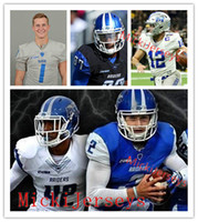 Wholesale xxl stamp resale online - Mens Custom Middle Tennessee State Blue Raiders Reed Blankenship Cain McWilliams Asher O Hara Chris Stamps John Turner MTSU Football Jersey