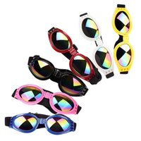 Wholesale dog hats sunglasses for sale - Group buy Dog Helmets for Motorcycles with Sunglasses Cool ABS Fashion Pet Dog Hat Helmet Plastic Pet Protect Ridding Cap SML