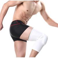 баскетбольные замки оптовых-Anti Slip Gear Crashproof Adult Kids Sports Basketball Pad Leg Knee Long Sleeve Protector With Honeycomb Lock System H3
