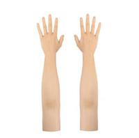 guantes de nivel al por mayor-Hecho por el hombre de silicona de alto nivel realista de silicona guante femenino piel Realistas manos falsas Partido crossdresser Accesorios