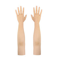 Wholesale fake accessories for sale - Group buy Silicone man made high level realistic silicone glove female artificial skin Lifelike fake hands Party crossdresser Accessories