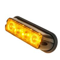 grelha led luzes âmbar venda por atacado-4 LED de Segurança de Emergência Side marcador flash da grade Strobe Light Amber- 1PC