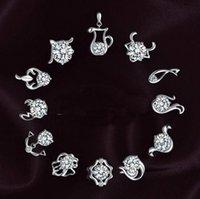 ingrosso orecchini di zircono genuini-Orecchini Splendidamente originali S925 moda retrò dodici orecchini in argento sterling di alta qualità gioielli in zircone orecchini orecchino all'ingrosso