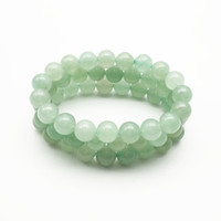 10mm Green Aventurine Bracelet,Gemstone Bracelet,Aventurine Round Beads,Elastic Bracelet,Good Luck Bracelet