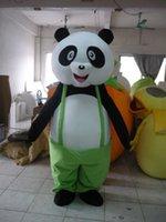desenhos animados da panda do natal venda por atacado-Halloween panda engraçado Mascot Costume Top Quality Animal Hipopótamo Dos Desenhos Animados Anime personagem de natal Do Partido Do Carnaval Trajes Extravagantes