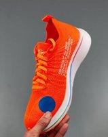 descuento zapatillas naranja al por mayor-Off Discount Zoom Fly Mercurial Hombre y mujer Zapatillas de deporte Negro Naranja Zapatos Zoom Zapatos Fly White con caja