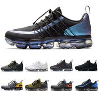 zapatos negros de diseño para hombres al por mayor-NIke air max vapormax Zapatillas de deporte 2019 Laser Fucsia UTILITY para hombre triple blanco negro REFLECTIVE Wolf gris Zapatillas de  deporte de marca tallas 40-45