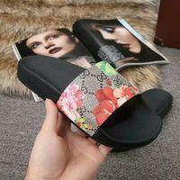 ingrosso pu stampa sandalo uomini-19ss uomo donna moda pantofole causali ragazzi ragazze tian / fioriture stampa fiore sandali con scivolo unisex spiaggia all'aperto infradito taglia 34-45