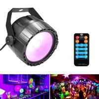 luz brilhante rgb venda por atacado-Disco 10 W RGB UV COB LEVOU Par Luz de Controle Remoto Sem Fio Estágio Brilhante Suave Lâmpada de Iluminação DJ DMX Luzes para o Partido Barras Mostrar