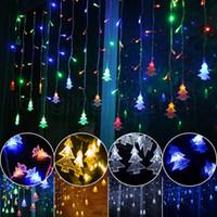 rideau de mariage de décoration achat en gros de-Icicle String Lights 4.5 M 96 Leds Rideau Arbre De Noël Fairy Lights De Noël Nouvel An Lumières De Noce Décoration RRA127