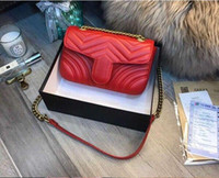Wholesale luxury cell phones diamonds for sale – best Luxury Classic Genuine Leather Lady Messenger Bags Fashion Love heart V Wave Pattern Satchel Designer Shoulder Bag Chain Handbag Purse