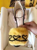 robes de chat pour les femmes achat en gros de-Vraies fourrures femmes gladiateur sandales à talons chaussures robe d'été fête de mariage mince à talons sandales romaines chaussures Cat Show dames chaussures Zapatos