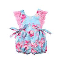 Wholesale pretty clothing resale online - Pretty Girl Princess Dress Lace Romper Newborn Baby Girls Floral Bodysuit Jumpsuit Sunsuit Dresses Outfits Clothes M