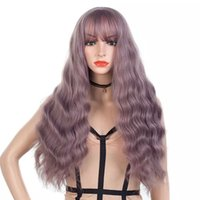 Wholesale Long Wave Red Color Wigs Women wigs Cosplay Lady s Heat Resistant Synthetic Full Hair