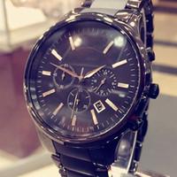pilas de reloj de cuarzo al por mayor-Reloj de pulsera de cuarzo con batería de cuarzo clásico negro más nuevo para los hombres 1451 Reloj de los amantes con caja original
