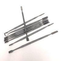 titan-zigarette großhandel-OEM für edelstahl wachs tupfen werkzeug elektronische zigarette metall tupft 175mm dabber werkzeuge für titan nagel trockenes kraut vaperizer becher bong