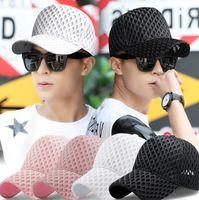 Wholesale breathable mesh ball cap resale online - Net Baseball Cap Women Summer Sun Hats Outdoor Hollow Out Snapbacks Fashion Ponytail Caps Breathable Casual Mesh Ball Hat GGA3505
