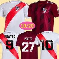 venta caliente jersey de fútbol al por mayor-2020 Hot River Plate blanco Jersey de fútbol River Plate negro G.MARTINEZ QUINTERO PRATTOSCamisa de fútbol 19/20 riverbed Uniforme de fútbol Oferta