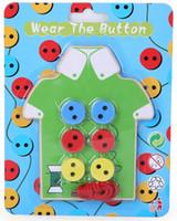 jouets à fileter achat en gros de-matériaux de montessori bois 2 styles portent le bouton en bois jouets Threading Board perlé bâtiment blocs enfants jouet bricolage à la main