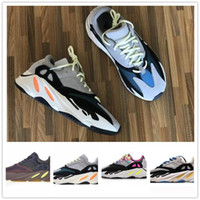 Wholesale Kanye West Wave Runner Running Shoes For Mens Womens s V2 Static Sports Sneakers Mauve Solid Grey Sport Shoes Size