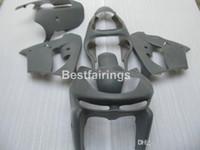 partes del cuerpo ninja kawasaki zx9r al por mayor-Kit de carenado de partes del cuerpo de pintura personalizada gratis para Kawasaki Ninja ZX9R 98 99 juego de carenado gris ZX9R 1998 1999 YW28