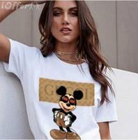 dessins du cou pour les hauts achat en gros de-2019 Top Qualité Coton Cut Pug Imprimer Femmes T Shirt Casual O-Cou Femmes T-Shirt Nouveau Design Femme T-shirts Femme